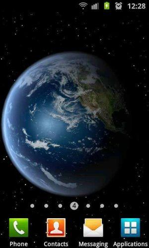 3D高清地球旋转动态壁纸图片图2