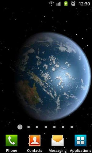 3D高清地球旋转动态壁纸图片图4