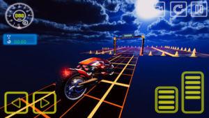 霓虹摩托车特技赛车游戏图1